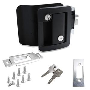 Nero RV Entrata serratura della manopola della maniglia con Catenaccio Camper Travel Trailer Fermo chiave