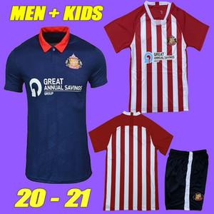 새로운 20 21 SUNDERLAND 축구 유니폼 홈 떨어져 2021 2020 camisetas POWER WATMORE MCNULTY 맥기 Grigg가 LEADBITTER 축구 셔츠