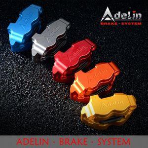 Adelin ADL-1 moto au freinage hydraulique Calibres 82mm universel 4 pistons en alliage d'aluminium CNC modifiés étriers de frein moto qbLL #