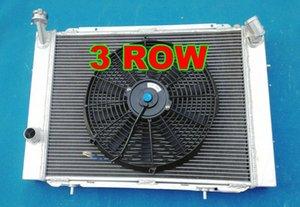 GPI 3 FILA radiador de aluminio + FAN para Holden Commodore VB VC VH VK V8 1979-1986 Manual GJbl #
