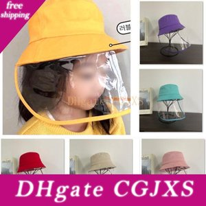 -Saliva Koruyucu Çocuk Şapkalar HH9 Çocuk -2981 Yüz Maskesi Ağız Büyük Yaz Anti Fisherman Şapka Cap Visor DLNDH
