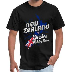 Impreso Nueva Zelanda es donde está mi historia comienza el niño mandaloriana camiseta Simpsons masculino femenino camiseta del tamaño grande de s ~ 5Xl tee tapas