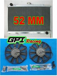 алюминиевый радиатор для Сильвии S13 SR20DET 89-94 MT 90 91 + бандажные + вентиляторы Zy6k #