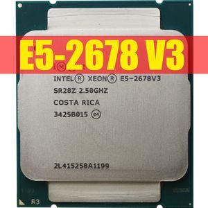 Intel Xeon Prozessor E5 2678 V3 CPU 2.5G Serve CPU LGA 2011-3 e5-2678 V3 2678V3 PC-Desktop-Prozessor CPU für X99 Motherboard