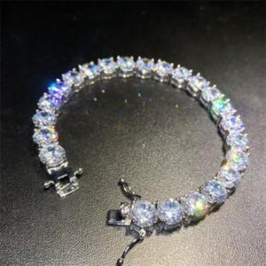 Iged خارج الماس التنس أساور رجل الذهب والفضة الهيب هوب أساور مجوهرات عالية الجودة 8 ملليمتر الزركون سوار A127