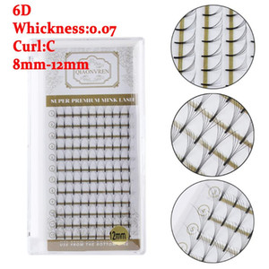 12 Rows tray New 6D Volume Eyelashes Extension Short Stem Premade Fans Handmade Lash Eyelash Individual Extensions Mix Length