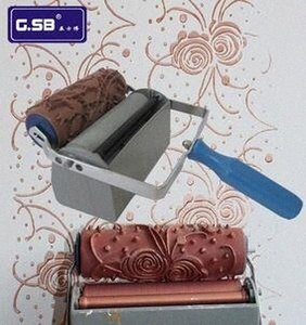 6'' two color wall decoration machines | knurled mold | without the decoration roller connect with extension shaft GSB tool qTNj#