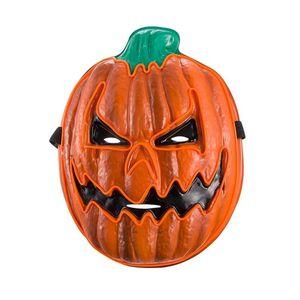 Assustador LED Halloween Pumpkin Mask Light Up para o partido Festival Halloween para homens, mulheres e crianças