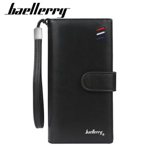 Wholesale Baellerry Brand Designer Wristband Wallet Men Large Capacity Male Purse Card Holder Long Clutch Man Wallet 100PCS lot