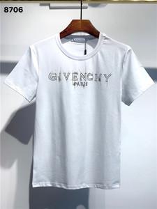 20SS Fashion Casual T Shirt Men Streetwear de luxe de T-shirts pour hommes T-shirts Lettre de broderie Chemises manches courtes T-shirts