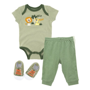 Cotton Baby Clothes 3 Pack Set for Boy Kids Outfit Set Summer Baby Girls Bodysuit With Short Sleeve Shorts and Shoes Set 0927