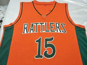mulheres costume Homens Jovens Vintage # 15 DeMarcus Cousins LeFlore Basketball Jersey Tamanho S-6XL ou personalizado qualquer nome ou número de jersey