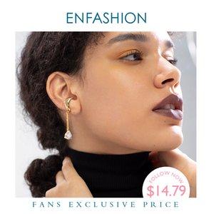 wholesale Asymmetric Water Droplets Crystal Ear Cuff Clip On Earrings For Women Gold Color Earcuff Earings Fashion Jewelry E1151