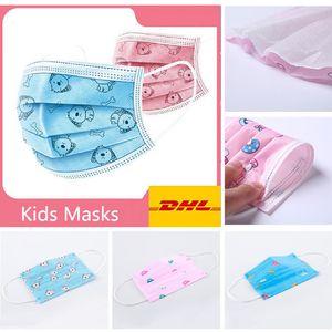 50 PCS DHL cão bonito Crianças respiração STYLE super-herói Máscara Kids Fun fantasia vestido de festa face inferior Boca Muffle máscara máscaras contra poeira à prova de vento de algodão