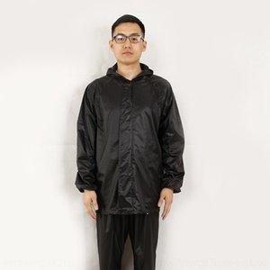 qXGBa Однослойной однослойный защитного костюма отражающего разделения работа дождевик и утолщенный участок труда костюм плащ