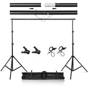 cgjxsPhoto Video Studio 9 0,8 pés Background base ajustável do Fundo de Apoio Kit sistema com Carry Bag T200610