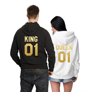TdVF5 KING Pullover Cappotto 01 QUEEN con cappuccio in spugna di cotone maglione pullover della coppia cappotto 01 della coppia