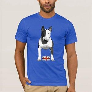 Мужская Прохладный -Т-Shirt Mens Velocitee английский бультерьер Made In England EBT Bully с коротким рукавом Скидка 100% хлопок футболки