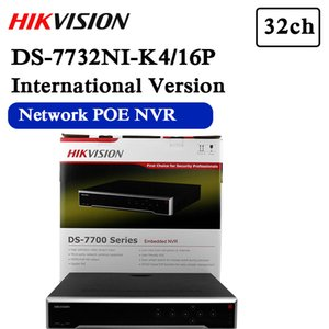 Free shipping hikvision DS-7732NI-K4 16P english version 32CH NVR with 4SATA ,4K NVR up to 8MP