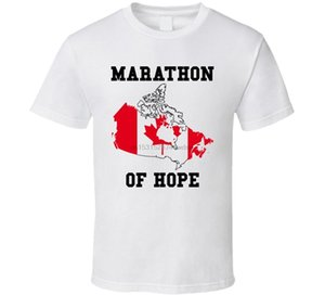 2016 Fashion Canada T-shirt Bandit Terry Fox Marathonien de l'espoir coton O-Neck T-shirt