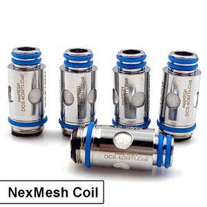 NexMesh Replacement Coil SS316 0.4ohm Mesh DC 0.4ohm MTL Coil for ORF NexMesh Vape Pod Kit
