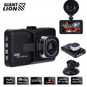 3 Inch Smart Car DVR Camera 1080p HD Night Vision traço Voice Control Cam Condução Video Recorder 140 graus Wide Angle