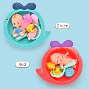 École maternelle Kid Pretend Baigner Canard Early éducation Simulé Baignoire ensembles de jeux Baby Bathing Set de jouets Jeux d'imitation