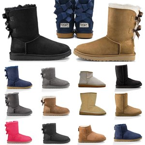2020 gg australische Stiefel für Frau Knöchel kniehohe Pelz Plateauschuhe Damen Mädchen U Schnee Winterstiefel warm halten klassische Turnschuhe