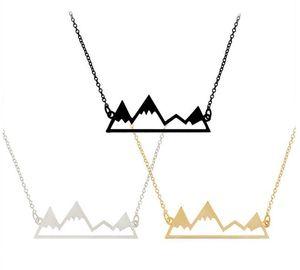 Kolye Takı Moda Erkekler İçin Tepe 60 Zincir Hollow kolye Adet Hediye Dağ ile Kadınlar Gümüş Moq Drop Shipping Altın queen66 MSAJX