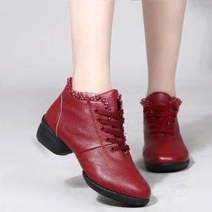 colore solido cucitura Zeppe merletto delle donne di colore solido cinghie scarpe da ballo comfort casual sneakers antiscivolo germogli Boots Side