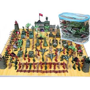 146Pcs Armée plastique militaire Hommes Figurines Accessoires Playset Soldat Sandbox Modèle jeu jouet pour enfants garçons