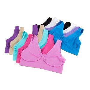 Sexy ropa interior de mujer Sujetador sin costura 9 colores Sujetadores deportivos Yoga Forma sujetador suéter del cuerpo del sujetador ropa interior de ciclo 6 Tamaños KHA273