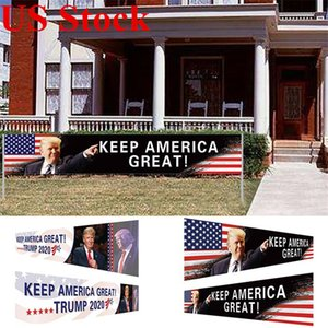 Todos a bordo del partido del acontecimiento de 296x48cm Bandera Campaña Trump tren de suministros de los Estados Unidos 2020 Elección Presidencial Banner Keep America Gran GWC1221