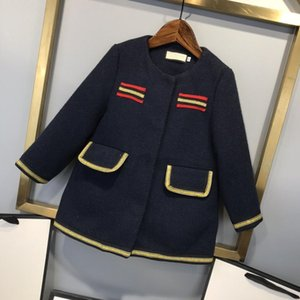 9159 Top brand girls' winter Plush coat warm coat thick children's classic coat 0927