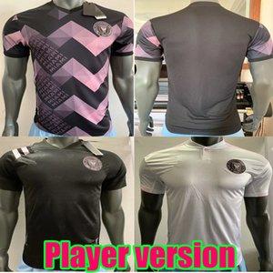 플레이어 버전 MLS 2020 인터 마이애미 스페셜 에디션 핑크 베컴 축구 유니폼 (20) (21) 남자 축구 셔츠 사용자 정의 홈 멀리 축구 셔츠