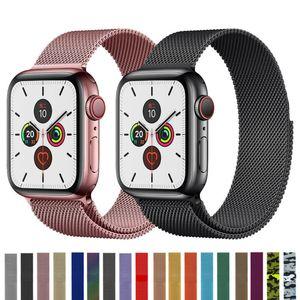 El acero inoxidable Milanese Loop Banda iWatch correa para el reloj de Apple Serie 5 4 3 2 1 38 42 40 44 mm