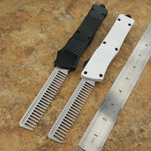 """Não afiada pente CNC mini-VG10 lâmina 60-62HR Benchmade BM3300 UTX85 UT121 trumpt 3 """"alça de alumínio T6 acampar faca automática ferramenta EDC"""