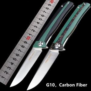 D2 acier de poche Couteaux pliants poignée CNC G10 en fibre de carbone Benchmade Couteaux Protech avec Black Box cadeau