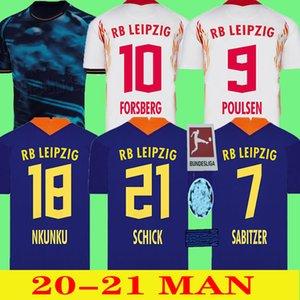 20 21 Leipziges كرة القدم جيرسي WERNER Início المحافل camisa camisas بريتاس brancas RB فورسبرغ Halstenberg Sabitzer uniformes دي qualidade الصورة