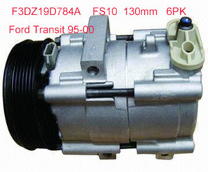 High quality FS10 Auto AC air conditioning compressor for Ford Transit 95-00 6PK 130mm F3DZ19D784A