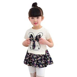 Clearance Excelent New Summer Dress Mesh Girls Toddler Kids Baby Girl Cartoon Rabbit Bunny Floral Princess Party Dress Clothes Z0205