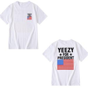 SS Kanye men t shirt Summer Fashion Top Ladies Short Sleeve Shirt Brand Clothing Letter Pattern Printing High Quality Loose Hip Hop