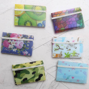 Flower Printing Plastic Make Holder Clip Portable Protective Folding Face Mask Storage Case Fast Shipping
