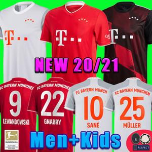 وضع بايرن ميونيخ 20 21 SANE لكرة القدم جيرسي LEWANDOWSKI HERNANDEZ NIANZOU MULLER قميص كرة القدم للرجال + الاطفال موحد MUNCHEN ال120 2020 2021