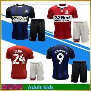 2020 2021 MIDDLESBROUGH adultos crianças jérsei de futebol Ashley Michael Fletcher FLINT ASA ASSOMBALONGA 20 21 Início camisas afastado do futebol