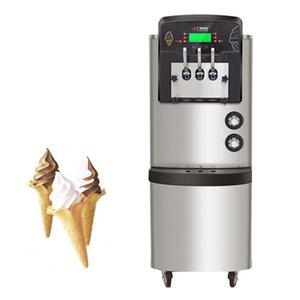 Ön soğutma sistemi Ice Cream Making Machine ile Dondurma Makinesi Paslanmaz Çelik Dikey Dondurma Makinesi