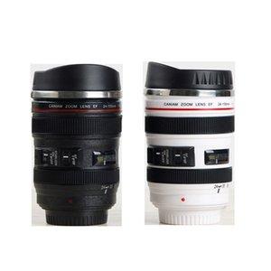 시뮬레이션 렌즈 컵 창조적 인 Caniam 카메라 렌즈 커피 컵 400ml의 스테인레스 스틸 여행 얼굴, 카메라 에오스는 모델 뚜껑과 컵을 마시는 24-105mm