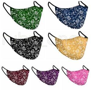 Paisley-Gesichtsmaske Erwachsene Respirator Anti-Staub-Mund Muffle Waschbar wiederverwendbare Gesichtsmasken Weihnachten Druckmaske 7styles RRA3521