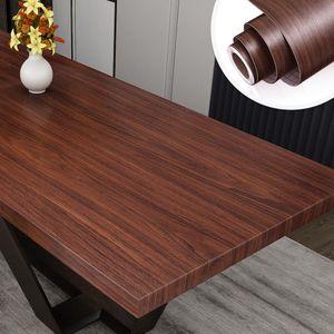 Impermeabile Wood Grain Sfondi autoadesiva di contatto della carta Guardaroba Kitchen Cabinet Tavolo da pranzo mobili Adesivi Renovation