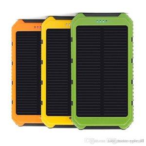 Dual USB 5000mAh impermeabile Banca di energia solare portatile del caricatore Esterni Enternal Batteria Powerbank per il telefono iPhone Android Caricatore da auto